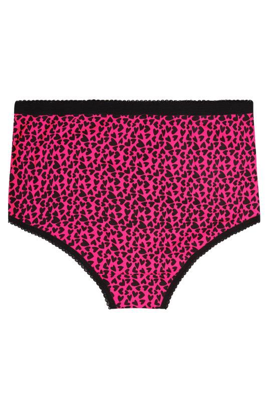 5 PACK Black & Pink Heart & Spots Full Briefs_BK.jpg