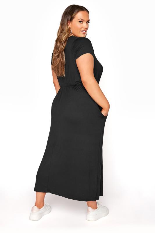 YOURS LONDON Black Pocket Maxi Dress_C.jpg