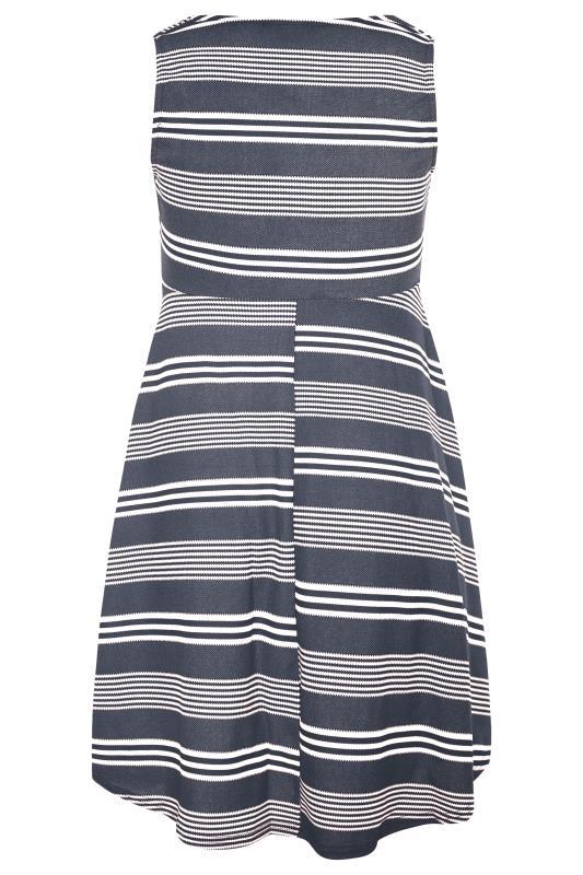 Navy Stripe Wrap Skater Dress_BK.jpg