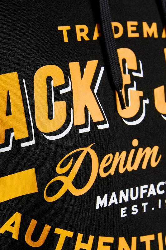 JACK & JONES Black Logo Printed Hoodie_D.jpg