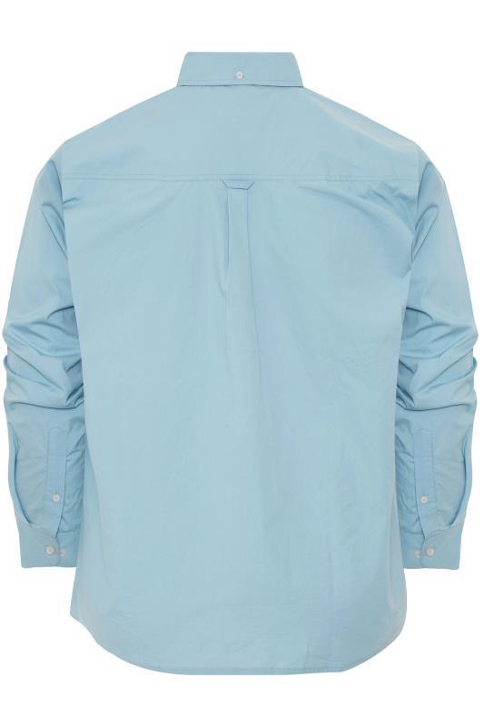 BadRhino Blue Cotton Poplin Long Sleeve Shirt