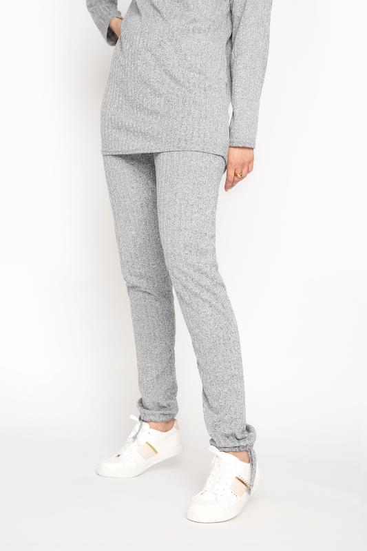LTS Grey Ribbed Tie Hem Co-ord Joggers
