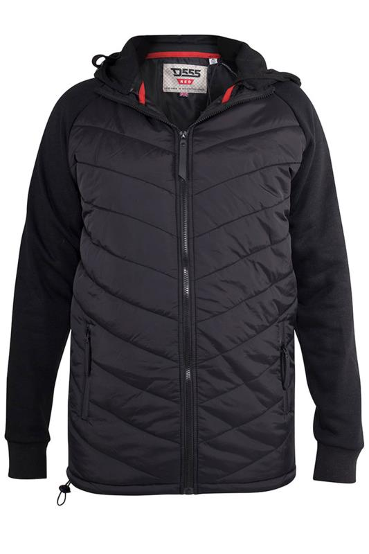 Plus Size Casual / Every Day D555 Black Thorpe Quilted Jacket