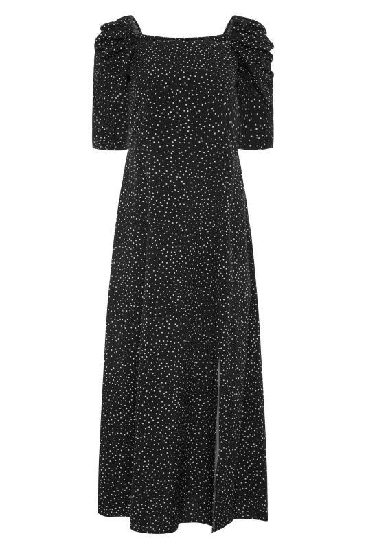 LTS Black Polka Dot Puff Sleeve Midaxi Dress_F.jpg