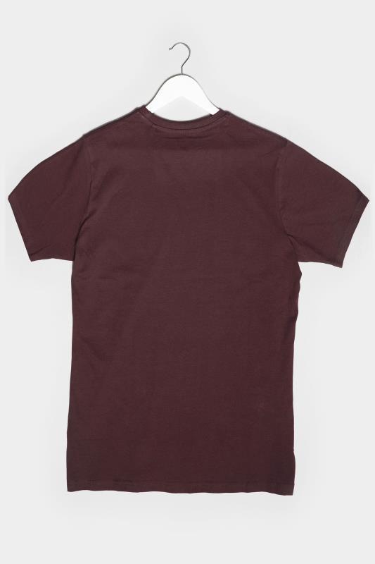 BadRhino Burgundy American Muscle Car Graphic Print T-Shirt