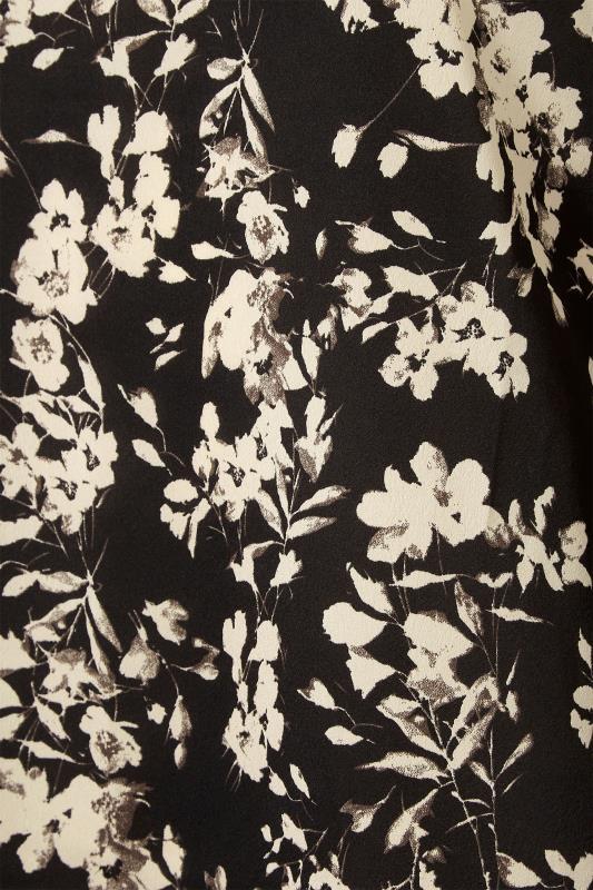 LTS Black Floral Print Balloon Sleeve Chiffon Blouse_S.jpg