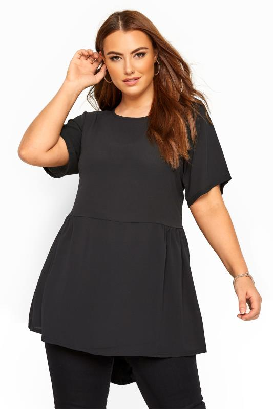 YOURS LONDON Black Peplum Blouse