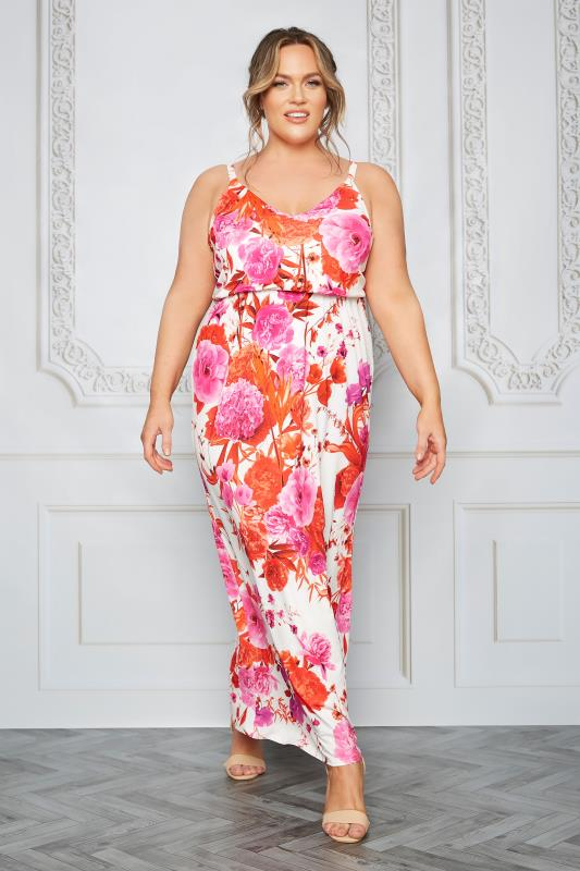YOURS LONDON White Flame Floral Cami Maxi Dress_L.jpg