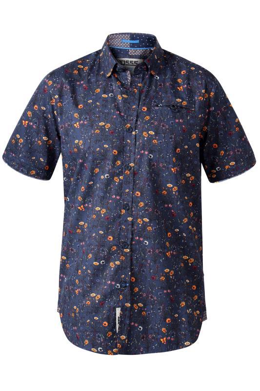 D555 Navy Floral Print Shirt