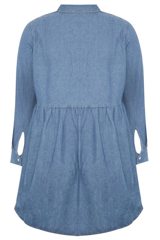 Blue Smock Denim Shirt