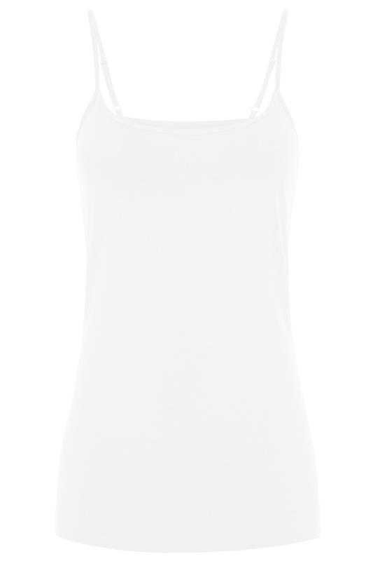 White Cotton Longline Cami Vest Top
