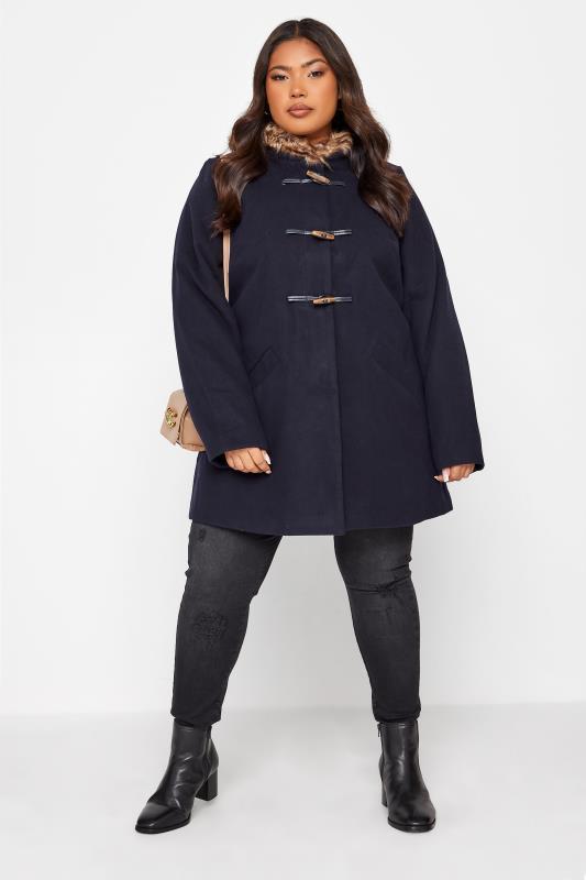 Navy Faux Fur Trim Duffle Coat_26.jpg