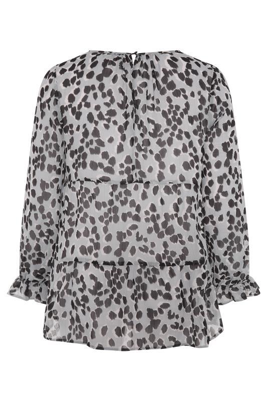 THE LIMITED EDIT Grey Leopard Frill Smock Blouse_BK.jpg