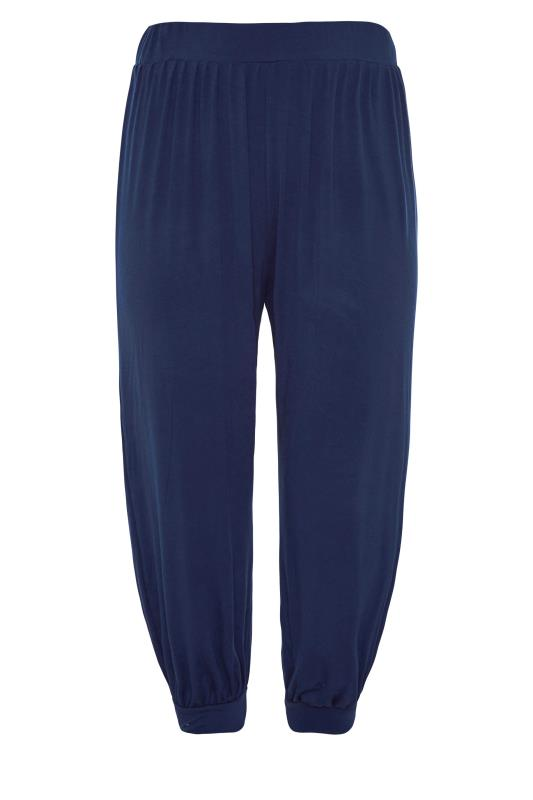 Navy Cropped Jersey Joggers_F.jpg
