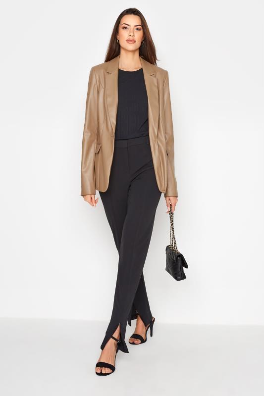 LTS Beige Faux Leather Blazer_B.jpg