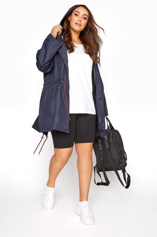 Navy Pocket Parka Jacket