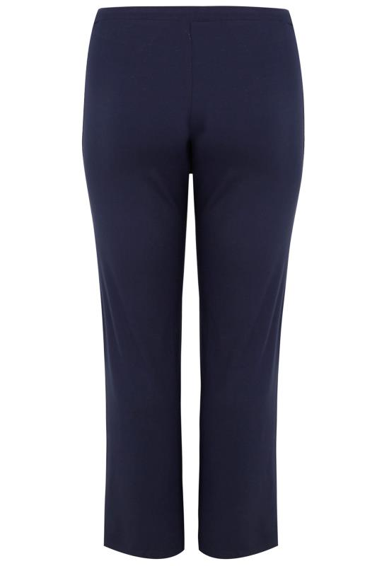 BESTSELLER Navy Wide Leg Pull On Stretch Jersey Yoga Pants