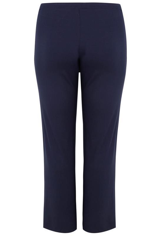 BESTSELLER Navy Wide Leg Pull On Stretch Jersey Yoga Pants_BK.jpg