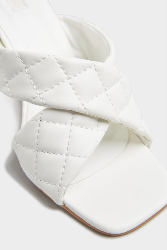 LIMITED COLLECTION White Cross Quilted Stiletto Mules In Extra Wide Fit_D.jpg