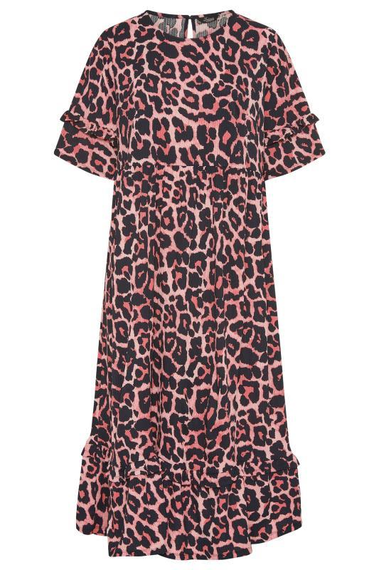 THE LIMITED EDIT Pink Leopard Print Smock Midaxi Dress_F.jpg