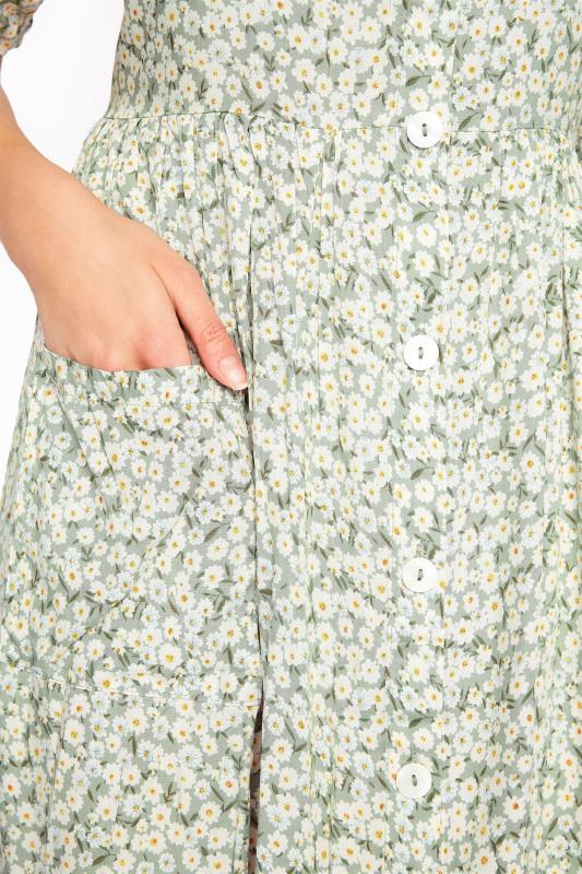 LTS Sage Green Floral Button Smock Tunic_E.jpg