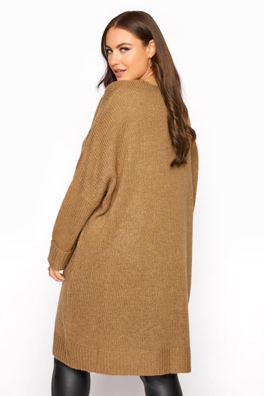 Camel Drop Sleeve Knitted Jumper Dress_C.jpg