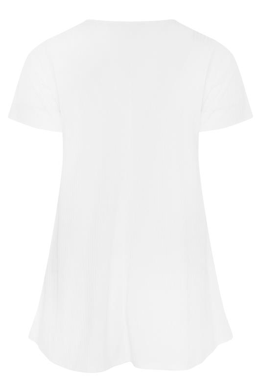 LIMITED COLLECTION White Ribbed Swing T-Shirt_BK.jpg