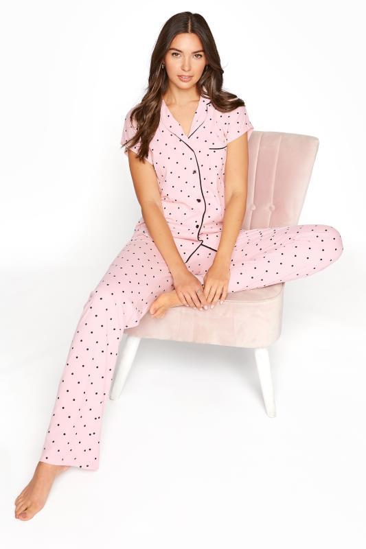 Tall  LTS Pink Polka Dot Pyjama Set