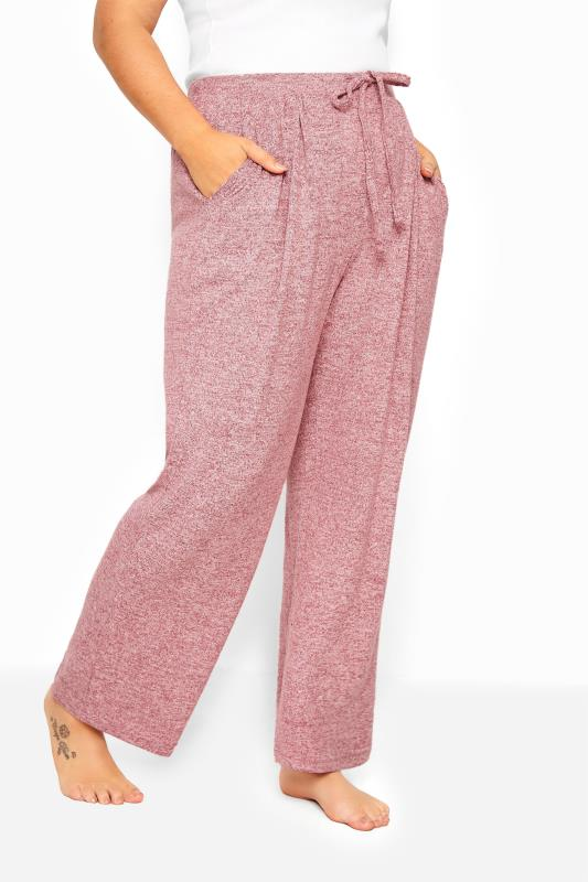 Pink Marl Wide Leg Lounge Pants