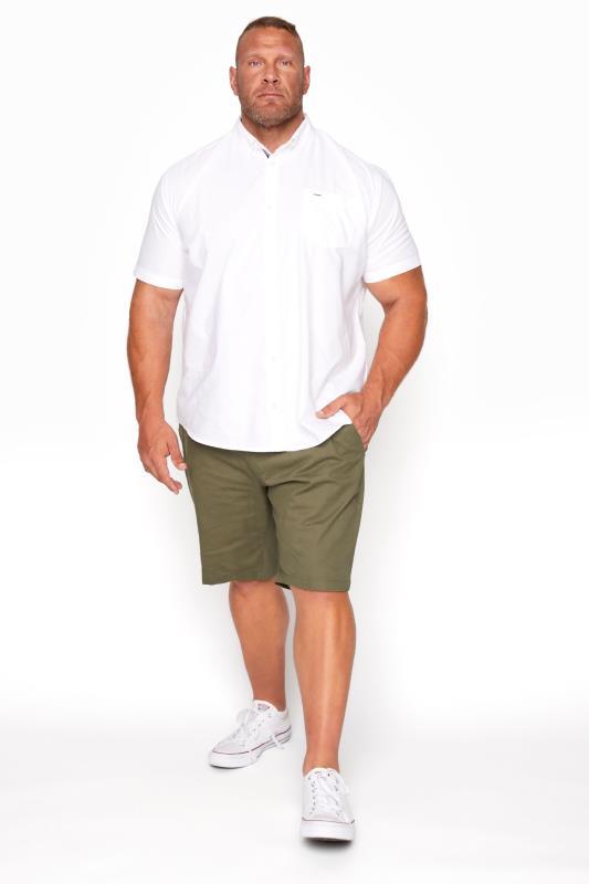 Men's  BadRhino Khaki Stretch Chino Shorts