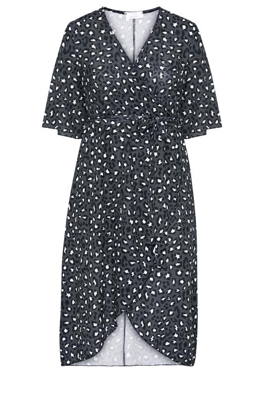 YOURS LONDON Grey Leopard Midi Wrap Dress_F.jpg