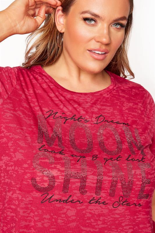 Red 'Moon Shine' Embellished T-Shirt_D.jpg