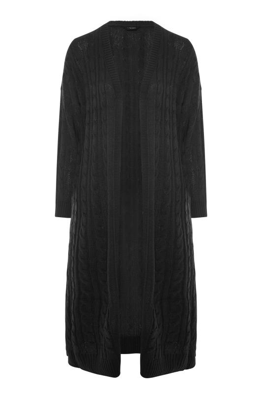 Black Cable Knitted Maxi Cardigan_F.jpg