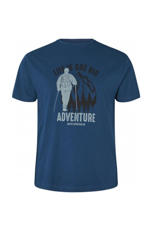 Plus Size  NORTH 36°4 Blue Adventure Graphic T-Shirt