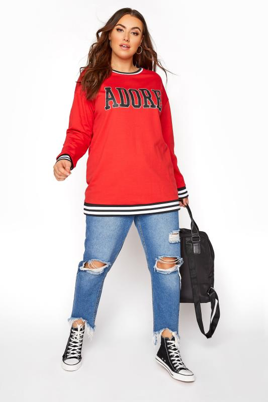 Red 'Adore' Sweatshirt