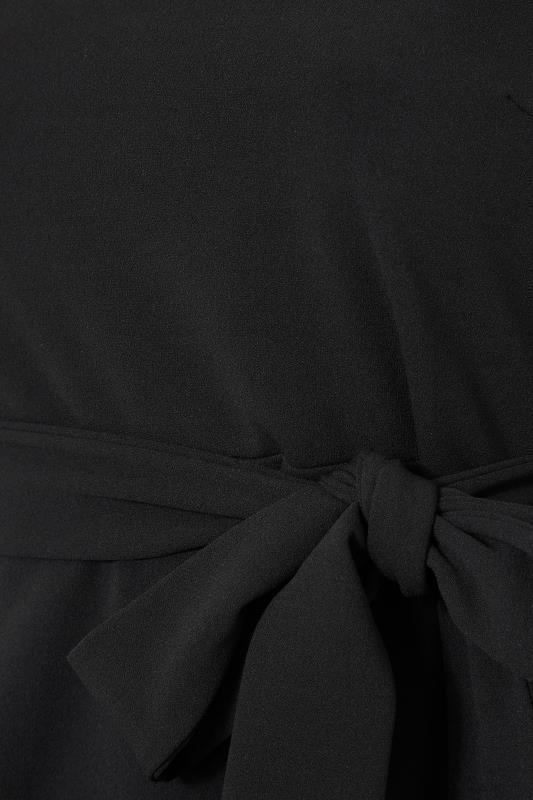 YOURS LONDON Black Chain Neck Peplum Top_S.jpg