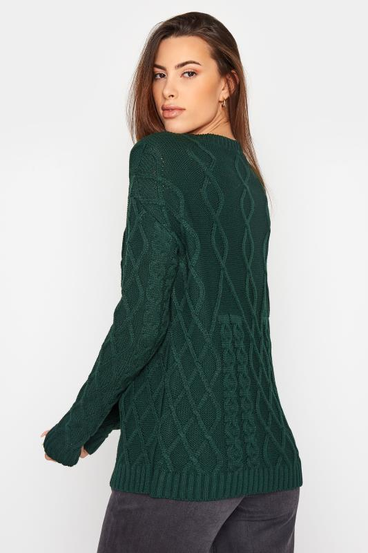 LTS Forest Green Cable Knit Jumper_C.jpg