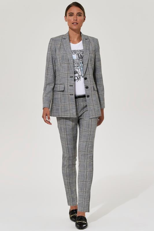 KARL LAGERFELD Grey Check Suit Jacket