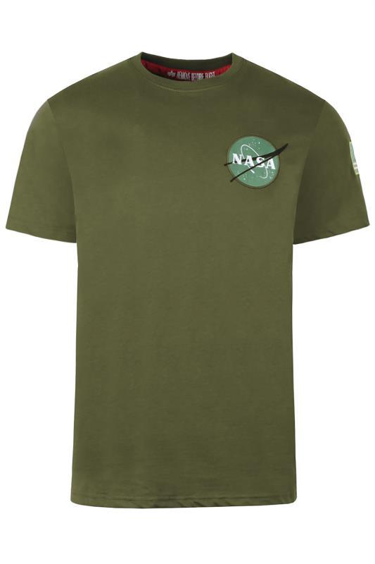 ALPHA INDUSTRIES Green Space Shuttle T-Shirt_F.jpg