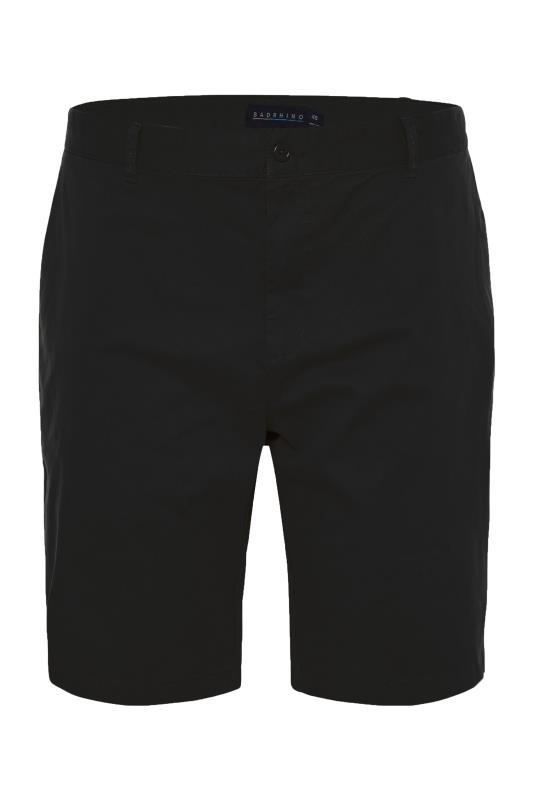 Men's  BadRhino Black Stretch Chino Shorts