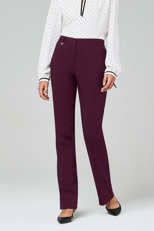 KARL LAGERFELD Burgundy Stretch Trousers