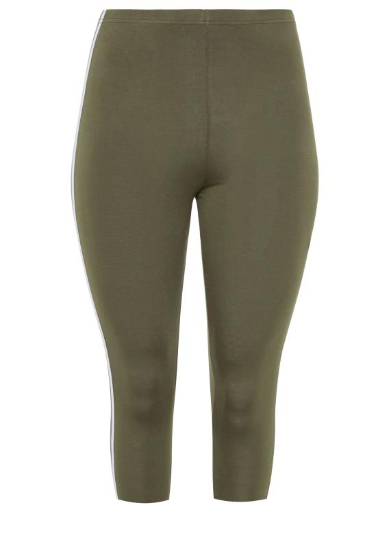 Khaki Side Stripe Cropped Leggings_bk.jpg
