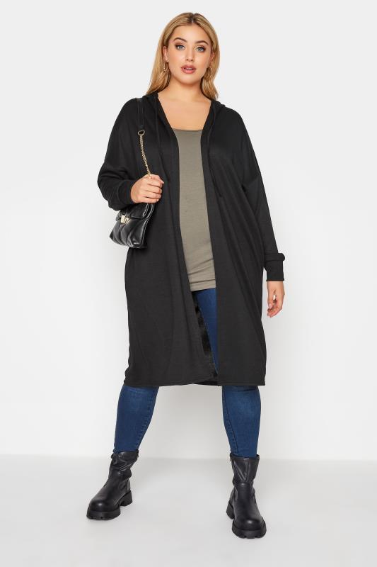Black Hooded Knitted Cardigan_B.jpg