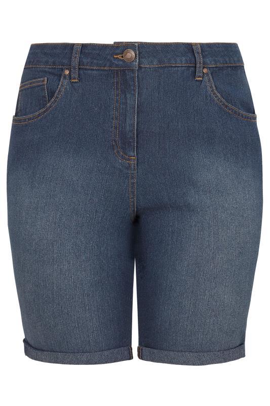LIMITED COLLECTION Dark Blue Denim Shorts_144217f.jpg