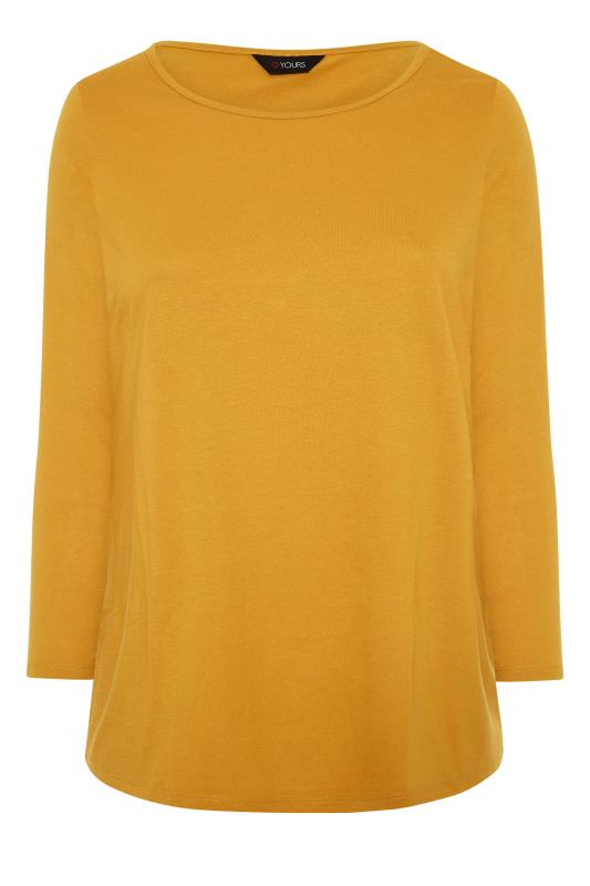 Mustard Yellow Long Sleeve Scoop Neck T-Shirt_F.jpg
