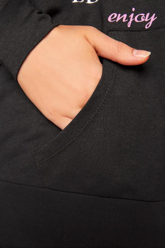 Black Print Front Zip Through Hoodie_D1.jpg