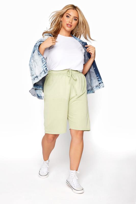 Sage Green Jersey Jogger Shorts_B.jpg
