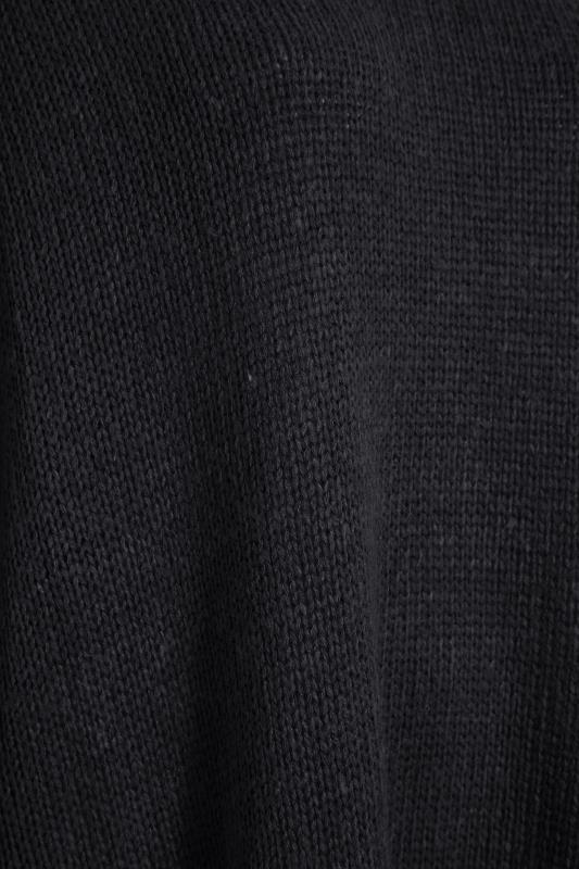 Black Drop Sleeve Knitted Jumper Dress_S.jpg