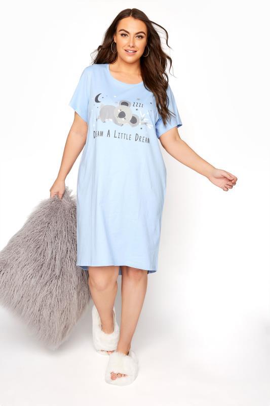 Blue Dream Koala Dipped Back Nightdress_B.jpg