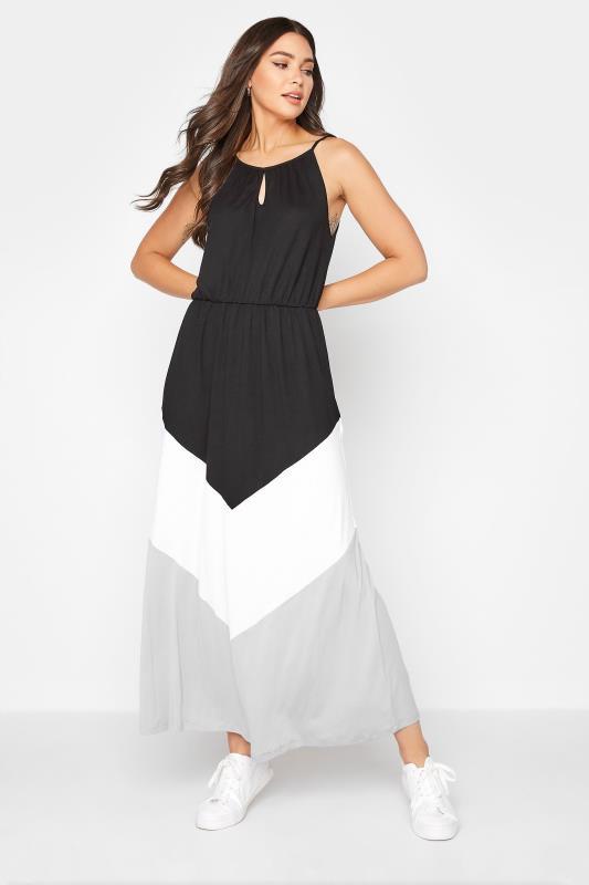 Tall  LTS Black Colour Block Dress